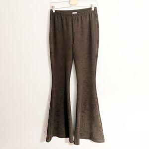 Alya Boho Hippie Olive Green Bell Bottom Pants